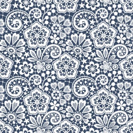 Lace Seamless Pattern. Blue backgrounds.