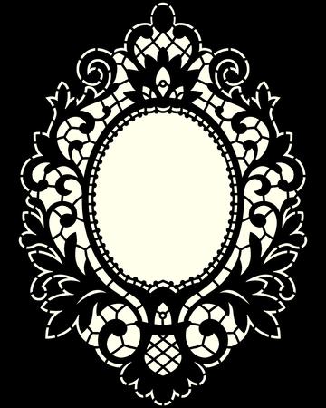Black Lace Frame Illustration
