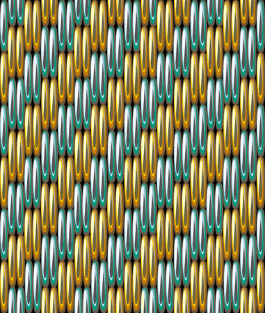 Gold grid metallic seamless pattern.