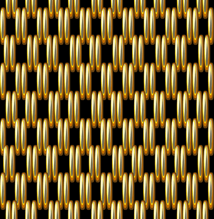 Seamless Pattern Imitation Gold Grid Metallic