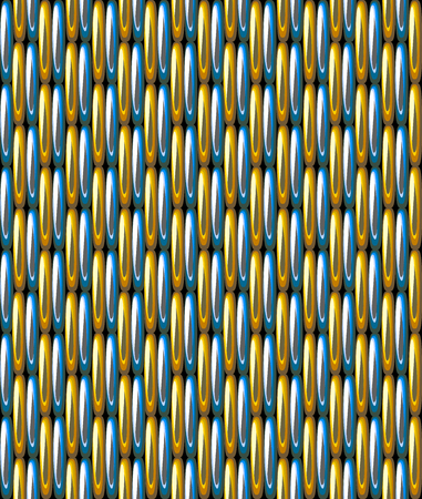 Seamless Pattern Imitation Gold Blue Grid Metallic Vettoriali