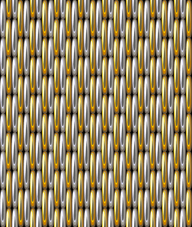 Seamless pattern imitation silver gold grid metallic illustration. Vettoriali