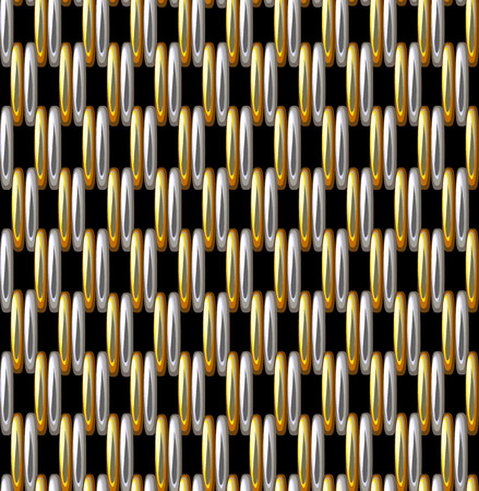 Seamless Pattern Imitation Silver Gold Grid Metallic Vettoriali