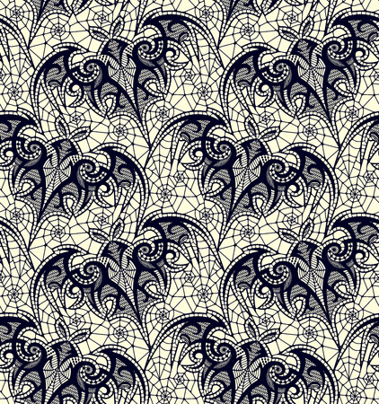 Bat, Seamless pattern. Lace vector pattern.