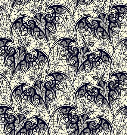 Bat, Seamless pattern. Lace vector pattern.