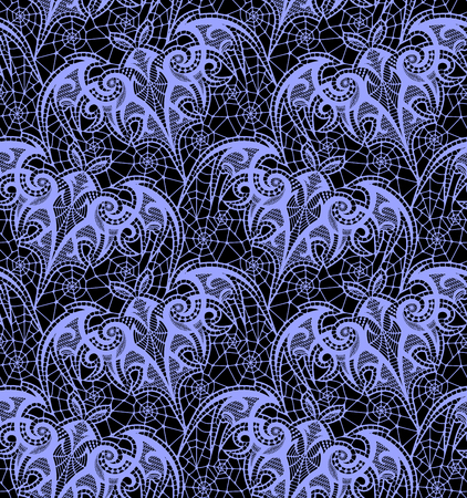 Bat Seamless pattern. Black Lace vector pattern.