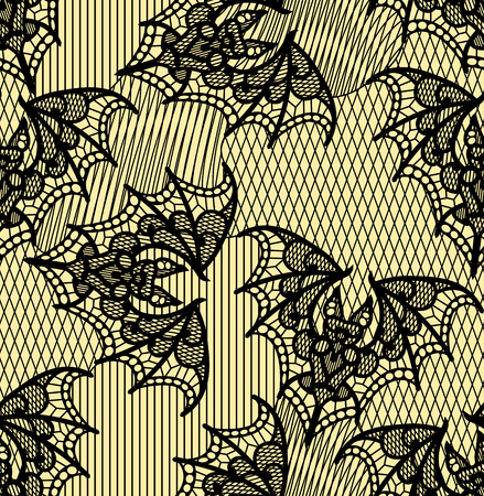 Bat. Seamless pattern. Lace  vector pattern.