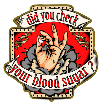 Check your blood sugar. Health poster. Illustration