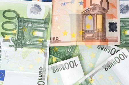 One hundred Euro Bills  Background 写真素材