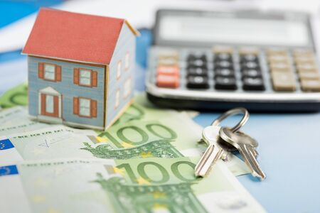 The concept of home ownership and Euro 写真素材 - 142146167