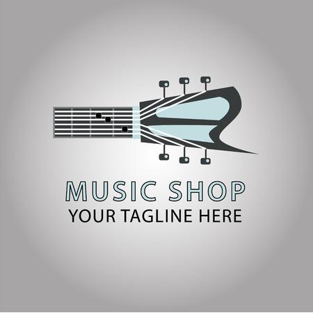 guitar vector logo illustration, Chord C