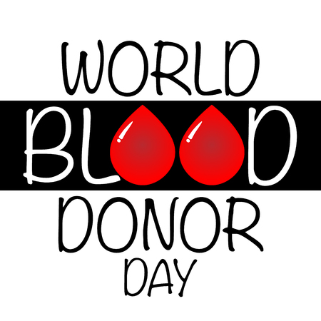 World Blood Donor Day vector background. Awareness poster with red paper cut blood drop. 14 june.