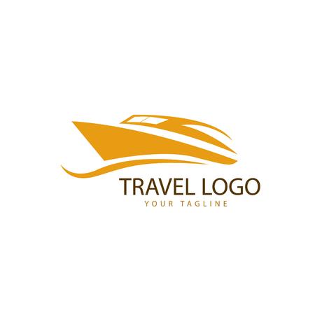 travel logo , sea transportation vector
