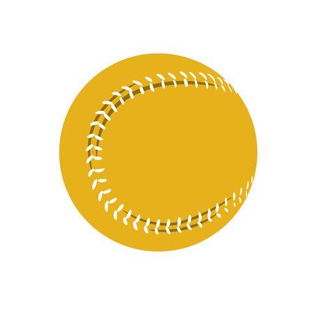 striped yellow baseball
