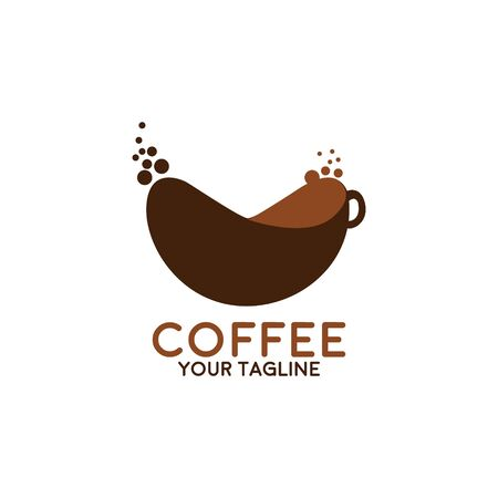 Coffee Shop Logo Icon Design Template. Cappuccino Cafe Vector Illustration Ilustracja