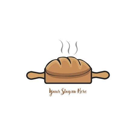 Bread, Bakery badge, logo icon modern style vector.  design elements isolated on white background Illustration