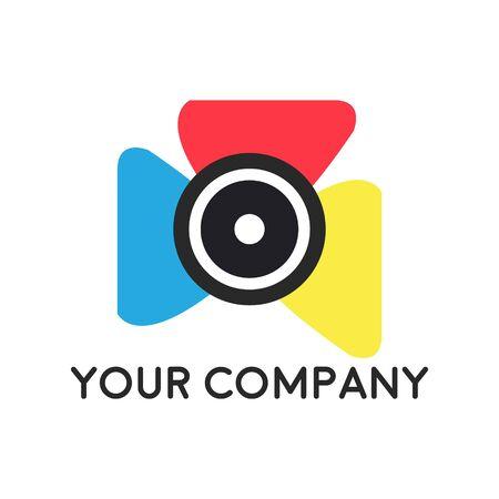 plantilla de vector de icono de logotipo de fotografía de cámara Logos