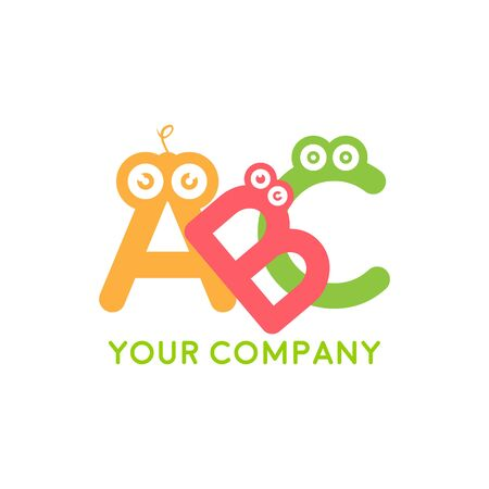 Kids zone vector cartoon logo. Colorful letters for children's playroom decoration. Inscription on isolated backgroundKids zone vector cartoon logo. Colorful letters for children's playroom decoration. Inscription on isolated background Stockfoto - 128394189