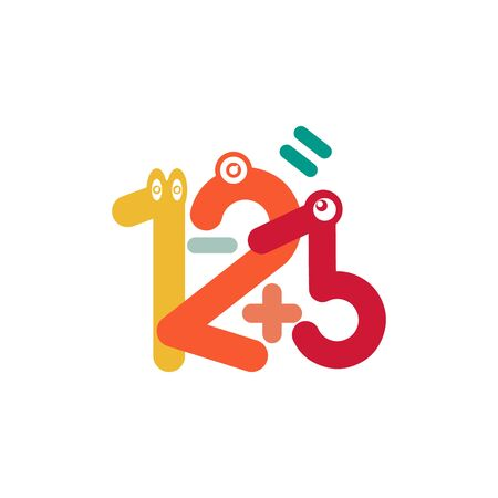Kids zone vector cartoon logo. Colorful letters for childrens playroom decoration. Inscription on isolated backgroundKids zone vector cartoon logo. Colorful letters for childrens playroom decoration. Inscription on isolated background