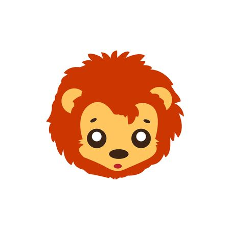 Cute Lion Face Emoticon Emoji Expression Illustration logo Ilustração