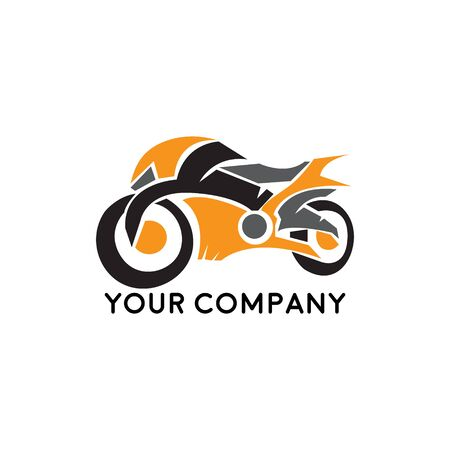 illustration motorcycles, vector template for design t-shirts, graphic, logo badge label service concept sports Stock Illustratie
