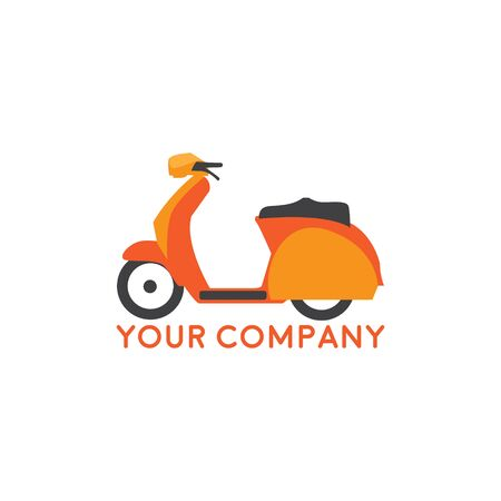 Scooter Logo design silhouette vector template. Motorbike shop store Logotype concept icon