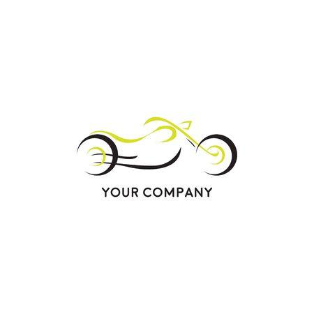 Stylization vector motorcycle motorbike. logo, icon, moto emblem, sports logo Stock Illustratie