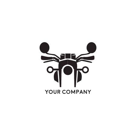 Motorcycle logo illustration. Vintage emblem on white background
