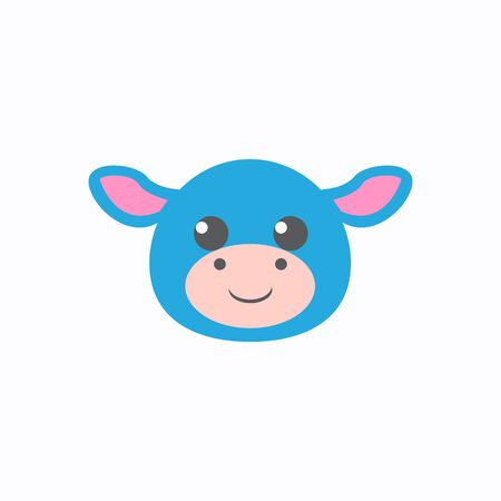 Avatar of a cow on a white background, cartoon cow logo vector mascot character avatar download Фото со стока - 129084541