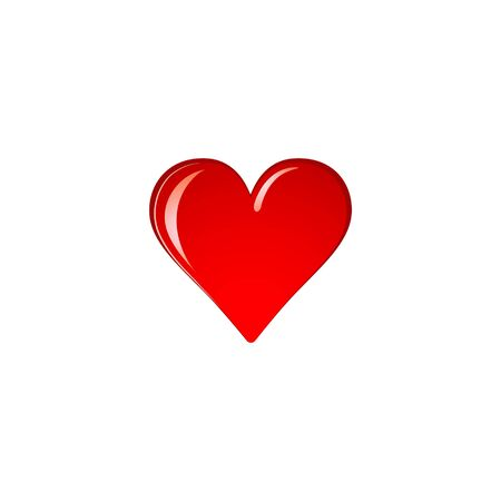 Heart Logo design vector template. Logotype concept icon Stock fotó - 129831481