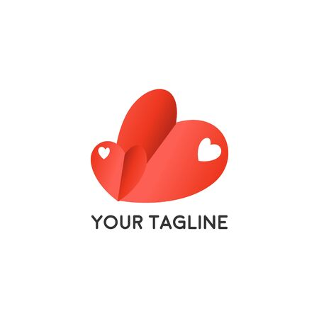 Heart Logo design vector template. Logotype concept icon