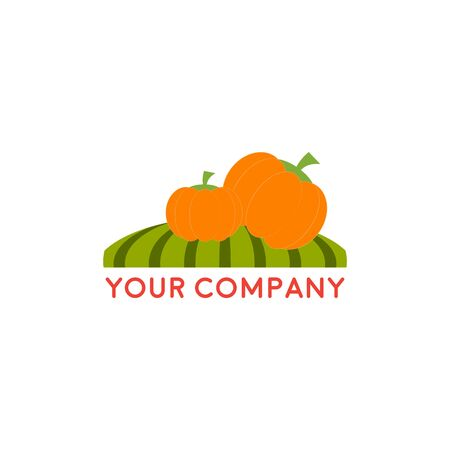 Farm House concept logo, with fruit