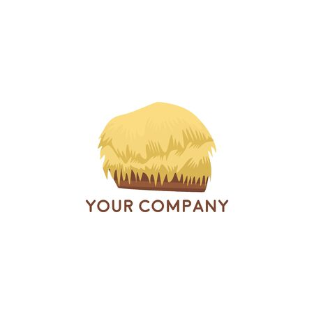 Farm House concept logo, Mulch Vector