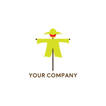 Farm House concept logo, the Scarecrow vector