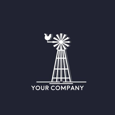 Farm House concept logo, Barn Vector  イラスト・ベクター素材
