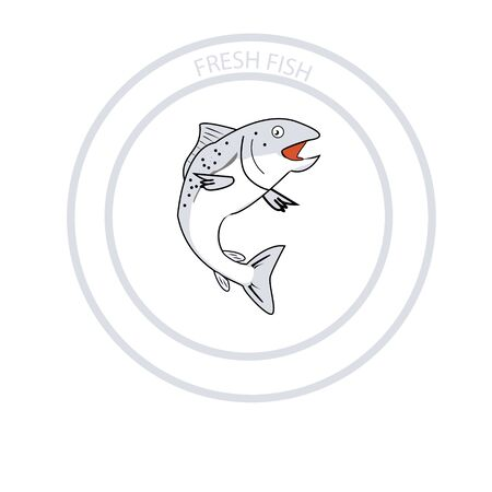 tuna fish vector, Seafood logo and Always Fresh