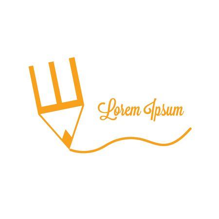 creative pencil logo template, Abstract Pencil Arrow logo template. Vector business icon