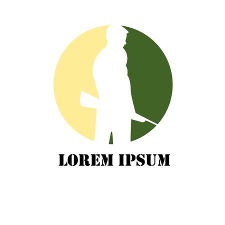 Sniper emblem for sports teams. Sniper club labels and design elements. Logo shoot