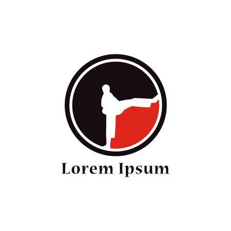 Taekwondo Logo Design Template. Martial arts Vector Illustration Illustration