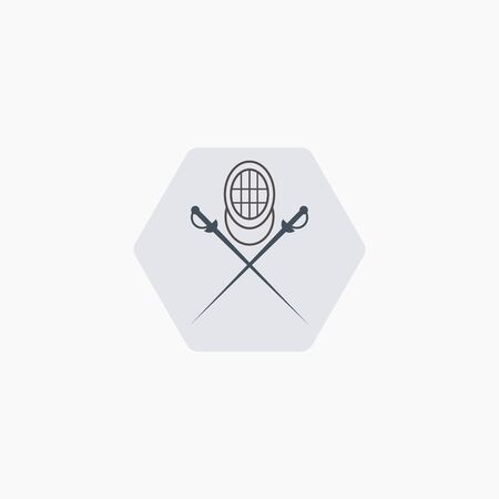 Fencing badges logos and labels can be used to fashion design, signs for sports clubs Banque d'images - 140092892