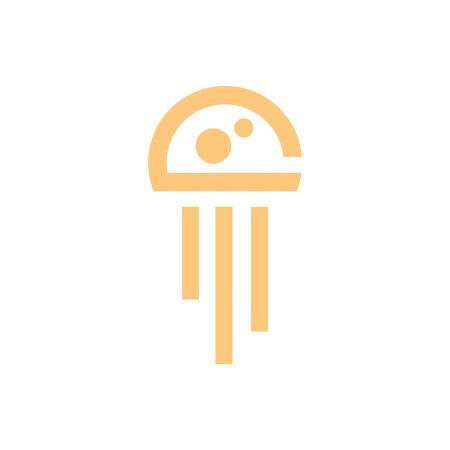 jellyfish logo icon designs vector Foto de archivo - 140093113