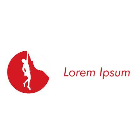 Modern vector professional sign logo climbing Logo