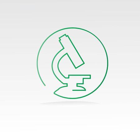 Microscope Science Logo Icon Design