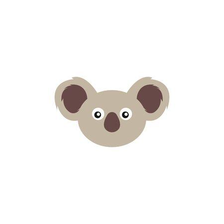 Koala cute bear in vector, an Australian animal, angry koala