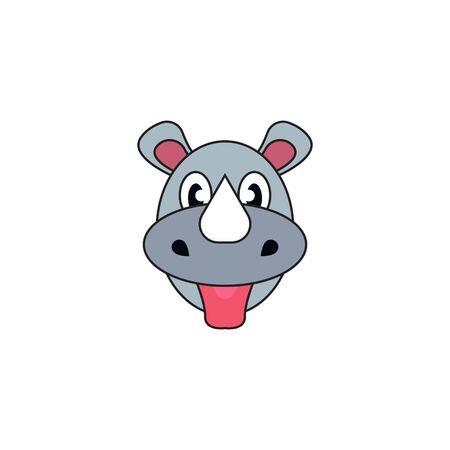 Rhino Logo Concept Vector. Rhino Logo Template