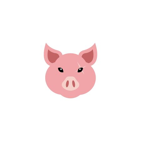 Mascot Head of an pig, angry face logo
