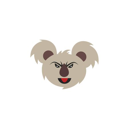 Angry Koala Face Vector Logo