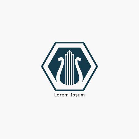 Harp Music Instrument Design Inspiration Vector