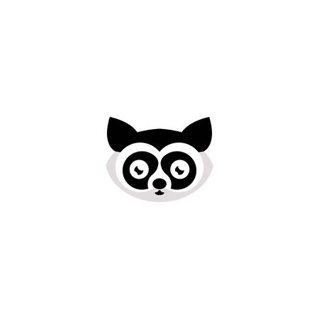 Raccoon face. Raccoon mascot idea, emblem, symbol, icon. Vector illustration