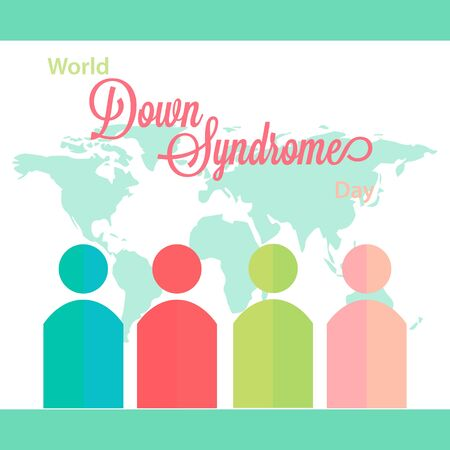 Vector Illustration on the theme World Down Syndrome Day